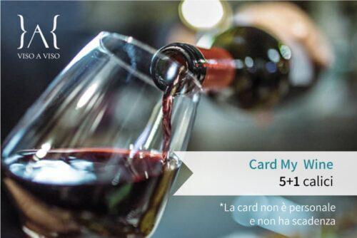 Card prepagata calici di vino