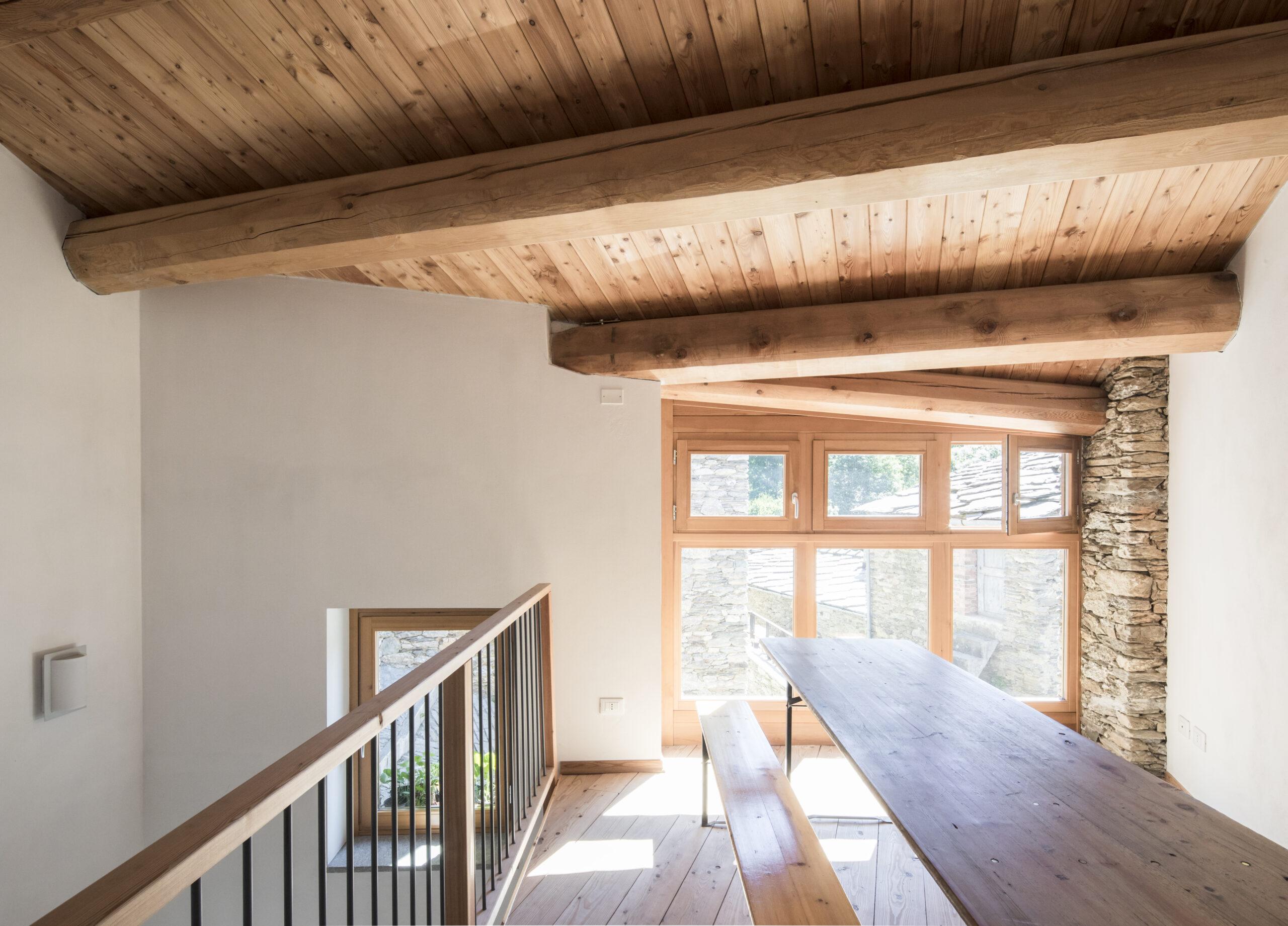 Foresteria, soppalco e finestre