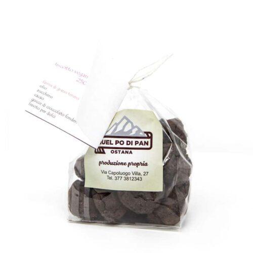 Biscotto vegano al cioccolato