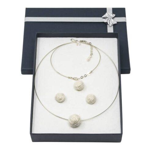 Confezione regalo gioielli in cashmere e alpaca