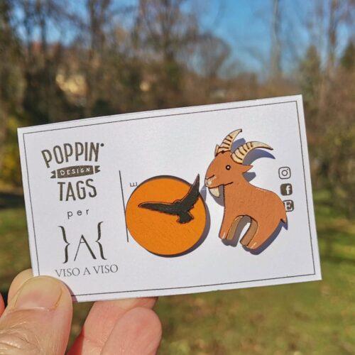Poppin Tags Aquila Camoscio